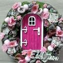 TAVASZTÜNDÉR otthona tavaszi-vidám színes KOPOGTATÓ ÉS AJTÓDÍSZ, Egyedi lakásdekoráció A szalma alapot gazdagon ...