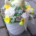MADÁRKA tavaszi-vidám-színes asztaldísz, dekoráció, dísz, Tavaszi lakásdekoráció Madárkás vidám-színe...