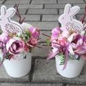 NYUSZI húsvéti tavaszi-virágos-színes asztaldísz, dísz, dekoráció NÉVNAPRA ÉS SZÜLINAPRA, Egyedi asztaldíszt készítettem. A kaspót kibé...