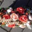 VIRÁGDOBOZ tavaszi-virágos-színes sztaldísz, dísz, dekoráció NÉVNAPRA ÉS SZÜLINAPRA, Egyedi asztaldíszt készítettem. A kaspót kibé...