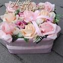 Tavaszi-virágos-színes asztaldísz, dísz, dekoráció NÉVNAPRA ÉS SZÜLINAPRA, Tavaszi asztaldísz. Díszítheti lakásodat, de a...