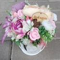 ANYÁK NAPJA vidám-virágos asztaldísz, dísz, Tavaszi asztaldìsz, dekoráció, dísz. Bármilye...