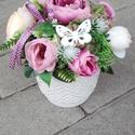 ANYÁK NAPJA vidám-virágos asztaldísz, dísz, dekoráció, Tavaszi asztaldìsz, dekoráció, dísz. ANYÀK NA...