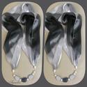 Ékszersál - ezüstszürke/fekete, Ékszer, Ruha, divat, cipő, Nyaklánc, Kendő, sál, sapka, kesztyű, Az ékszer a következő alapanyagokból készült: - textil - nikkelmentes fém elemek - akrilgyön..., Meska