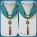 Ékszerkendő - türkiz, türkinit köves+láncmedál/ rövid, Az ékszer a következő alapanyagokból készült...