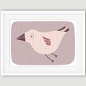 Babaszoba, gyerekszoba dekoráció állatos falikép kép - madár - A4 illusztráció, Baba-mama-gyerek, Dekoráció, Gyerekszoba, Kép, A madarat ábrázoló fali kép ideális dekoráció gyerek -és babaszoba falra, óvodákba. A saját rajzból ..., Meska