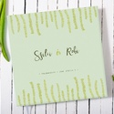 Elegáns, egyedi esküvői, eljegyzési emlékkönyv, vendégkönyv, napló halványzöld-zöld színekben, Esküvő, Nászajándék, Elegáns és egyedi esküvői, eljegyzési emlékkönyv, vendégkönyv, napló, a borítón és előzéken saját il..., Meska