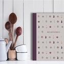 Konyhai receptkönyv, illusztrált, színes, letisztult stílusú recepteskönyv, receptek, szürke, kemény fedeles  könyv, Konyhafelszerelés, Receptfüzet, Konyhai receptkönyv, receptes füzet, a borítón és előzéken saját illusztrációimmal. Gyönyörű kivitel..., Meska