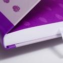 Receptkönyv, receptfüzet - egyedi tervezésű, illusztrált, kemény borítós könyv zsályalevelekkel lila, szürke színek, Konyhafelszerelés, Receptfüzet, Receptkönyv, receptfüzet - egyedi tervezésű, illusztrált, kemény borítós könyv zsályalevelekkel lila..., Meska