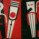 Love to love (Nonfiguratív festmény 2 részben / két pár) leírása, Képzőművészet, Dekoráció, Festmény, Kép, Festészet, - 1 pár (2 darab festmény alkotás) - Vegyes technika - Vászon - 70X50X2 cm - 2018 Németh Rudolf fes..., Meska