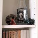 Lehe-Hihetetlen Palack (türelemüveg) Bicycle Skull paklival, Dekoráció, Mindenmás, Dísz, Furcsaságok, Üvegművészet, Mindenmás, Teljes Bicycle Skull paklival, a kristály koponyák nem részei a terméknek :)  Palack mérete: 7.5cm ..., Meska