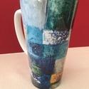 Festménnyel cappuccinós vagy teás bögre, 4 dl-es, nagyméretű porcelán bögrék készüln...