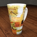 Cappuccinós vagy teás bögre művészi designnal, 4 dl-es, nagyméretű porcelán bögrék készüln...