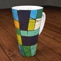4 dl -es porcelán cappuccino -s bögre festménnyel! , Képzőművészet, Konyhafelszerelés, Férfiaknak, Bögre, csésze, Kerámia, Festészet, 4 dl-es teás,kávés, vagy cappuccino-s porcelán bögrét kínálok eladásra. Nagyon szép formájú, csodás..., Meska