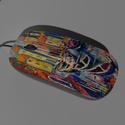 Művészi egér - Vén Emil: Olasz kikötő című festményével, Különleges mintájú egeret kínálok a számít...