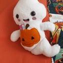 Plüss szellem figura 2, Dekoráció, Játék, Plüssállat, rongyjáték, BOO! Meg ne ijedj! Ez a cuki kis szellem egyáltalán nem ijesztő, sőt, még hasznunkra is lehet, mert ..., Meska