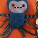 Ici-pici pók figura 3., Dekoráció, Játék, Plüssállat, rongyjáték, Tőle nem kell megijedni, mert ez a kedves, puha kis pókocska garantáltan vidámságot hoz az ősz..., Meska