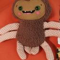 Ici-pici pók 4., Dekoráció, Játék, Plüssállat, rongyjáték, Tőle nem kell megijedni, mert ez a kedves, puha kis pókocska garantáltan vidámságot hoz az ősz..., Meska