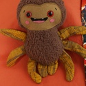 Ici-pici pók 6., Dekoráció, Játék, Plüssállat, rongyjáték, Tőle nem kell megijedni, mert ez a kedves, puha kis pókocska garantáltan vidámságot hoz az ősz..., Meska