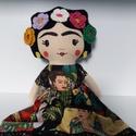 Frida Kahlo mexikói  textilbaba, Dekoráció, Játék, Baba, babaház, A sokak által kedvelt, különleges művészetéről és szenvedéssel teli életéről ismert mexikói festőműv..., Meska