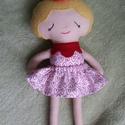 Pöttöm szöszi textilbaba, Játék, Baba, babaház, Kb 30 cm magas öltöztethető textilbabát készítettem, aki gyönyörü dekoráció lehet egy kislány vagy n..., Meska