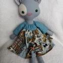 Ludmilla, a szürke öltöztethető cica textilből