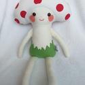 Gomba baba textilből, Játék, Dekoráció, Plüssállat, rongyjáték, Kicsik és nagyok kedvence lehet ez az aranyos, ölelnivaló gomba baba figura. 43 cm magas gomba baba,..., Meska