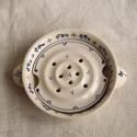 Szappantartó edény együttes, Fehér agyagból korongoztam a mélyebb edényt é...