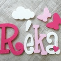 Réka baba név, baba betűk, Otthon & Lakás, Dekoráció, Betű & Név, Festett tárgyak, Réka név dekor Alap anyaguk: fehér polisztirol XPS  A termék saját vágással, festéssel és dekorálás..., Meska