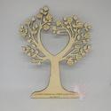 Leveles szívfa, 20 x 26 cm-es szívfa, melynek leveleibe gravíroz...
