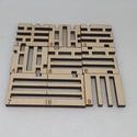 Kocka logikai kirakó, Mérete: 5.5 x 5.5 cm Anyaga: 6mm vastag rétegelt...