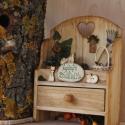 Személyre szóló ajándék: NAGYAPÓ BIRODALMA, Képzőművészet, Otthon, lakberendezés, Dekoráció, Falikép, Az ajándék fiókos polcocska fából készült, környezetbarát, vízálló festékkel felületkezelt, decoupag..., Meska