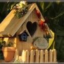BED   BREAKFAST - MADÁRETETŐ, Esküvő, Férfiaknak, Nászajándék, Az ajándék  környezetbarát, vízálló festékkel felületkezelt. Örökzöldekkel, természetes anyagokkal d..., Meska