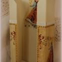 Angyalkás papírzsebkendő tartó, Otthon, lakberendezés, Konyhafelszerelés, Dekoráció, Karácsonyi, adventi apróságok, Ünnepi dekoráció, Angyalkás PZS tartó  Kedves és szívhez szóló ajándék ez a 100 db-os  papírzsebkendő tartó. A fa alap..., Meska
