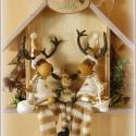 RÉM RENDES... vagy RÉN RENDES ...CSALÁD :))) ajándék házikó, Otthon, lakberendezés, Dekoráció, Férfiaknak, Karácsonyi, adventi apróságok, Ajtódísz, kopogtató, RÉM RENDES CSALÁD  Vidám ajándék tréfás kedvű családoknak.   Mérete: 20,5 x 20,5 x 8 cm Súlya: 80 dk..., Meska