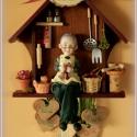 Mama Konyhája - Barna Házikó  személyre szóló szívecskékkel -minden család örömére, Dekoráció, Karácsonyi, adventi apróságok, Otthon, lakberendezés, Képzőművészet, Az ajándék fából készült, környezetbarát, vízálló festékkel felületkezelt. A személyre szabáshoz ker..., Meska