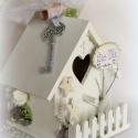 Hófehér házikó - shabby chick házikó esküvőre, Dekoráció, Esküvő, Otthon, lakberendezés, Nászajándék, SHABBY SHICK AJÁNDÉK HÁZIKÓ esküvőre   Az ajándék  környezetbarát festékkel felületkezelt. Örökzölde..., Meska