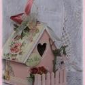 Romantikus rózsaszín házikó  varrónőknek, Otthon, lakberendezés, Dekoráció, Esküvő, Romantikus rózsaszín házikó  varrónőknek  Az ajándék  környezetbarát festékkel felületkezelt. Örökzö..., Meska
