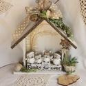 Mindörökké Család - Family for ever! Ajándék Házikó, Otthon, lakberendezés, Dekoráció, Karácsonyi, adventi apróságok, Férfiaknak, Ünnepi dekoráció, Ajtódísz, kopogtató, Mindörökké Család - Family for ever! Ajándék Házikó  Vidám ajándék tréfás kedvű bagolycsaládoknak.  ..., Meska