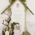 Isten hozott! - Köszöntő Házikó személyre szólóan , Dekoráció, Otthon, lakberendezés, Esküvő, Nászajándék, Isten hozott! - Köszöntő Házikó személyre szólóan  A harmonikus otthonok belső falának díszítő eleme..., Meska