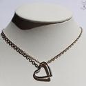 Ezüst szív medál, Ékszer, Szerelmeseknek, Medál, A medál  1,7 g 925 ezüstből készült, egy ezüst vagy bőrszálon áthúzva viselendő.  Magassága 1,7 cm, ..., Meska