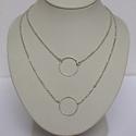 Ezüst karika nyaklánc, Ékszer, Nyaklánc, 925 ezüstből készülnek ezek az egyszerű, de mégis mutatós karika nyakláncok.  Az ajánlat 1 db lánc 1..., Meska