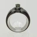 Gyűrű peridottal, Ékszer, Gyűrű, 56-os 925 Sterling ezüst gyűrű, tömege 4,31 g. A gyűrűbe peridot (olivin) került, ami 4 mm á..., Meska