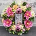 Csupa virág kopogtató nyuszis - ajtódísz, dekoráció