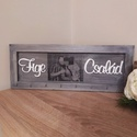 Fényképes családi kulcstartó, Fából készült fali kulcstartó választható k...