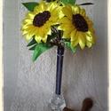 Napraforgós menyasszonyi csokor, Esküvő, Esküvői csokor, Mindenmás, A nyárik egy legjellegzetesebb virága a napraforgó. Megannyi kettősségével megragadott és szinte ké..., Meska