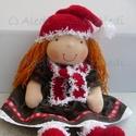 Téli baba, Játék, Baba-mama-gyerek, Baba, babaház, Baba-és bábkészítés, Varrás, Minden évben készül igazi karácsonyi baba. Idén nem tudtam eldönteni, hogy elegáns legyen vagy kópé..., Meska