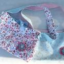 Kislány táskák, Puha virágos, és csíkos- pöttyös pamutvászon...