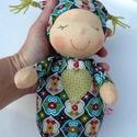 Mini alvó bébi- mintás, Baba-mama-gyerek, Játék, Baba, babaház, Baba játék, Kedves, pihe-puha alvó babóca (a kedvencem : ) A 28 cm magas alvó babám kicsinyített mása. Ő mindöss..., Meska