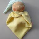Mini rongyi baba- sárga, Játék, Baba, babaház, Plüssállat, rongyjáték, Baba játék, Puha plüss Waldorf jellegű baba a legkisebbeknek. Feje műszálból kézült. Magassága kb. 27 cm, plusz ..., Meska